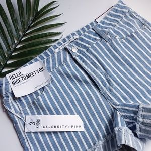 ✂️REDUCED✂️NEW Stripe denim shorts